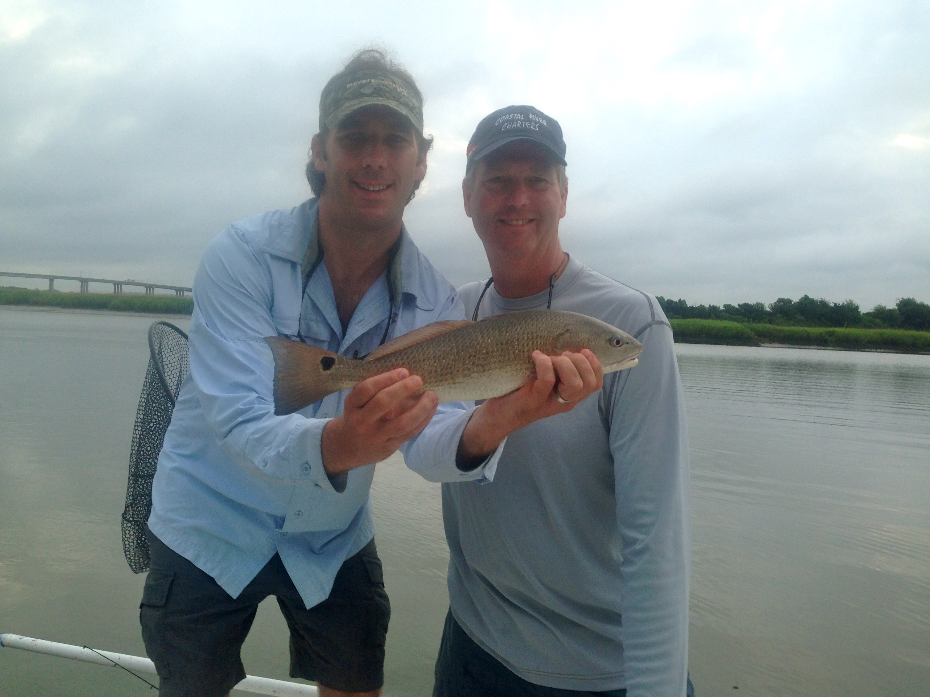 Lathum and Mark Diehl with a schoolie red!