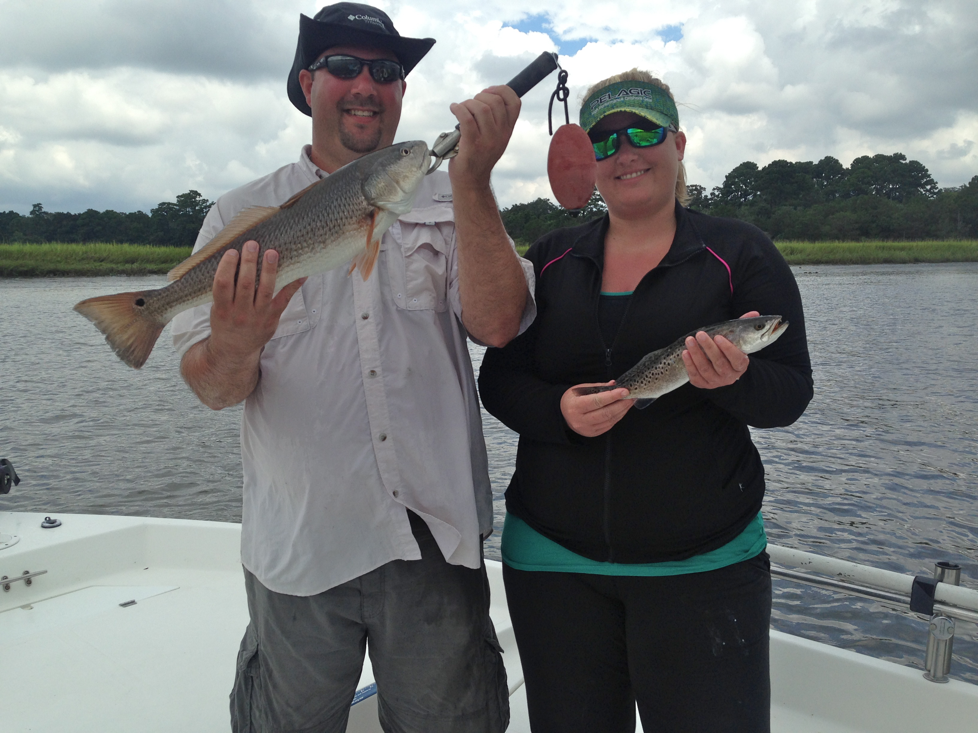 Michael Freeman & Daniel Cannon catching seatrout and redfish!