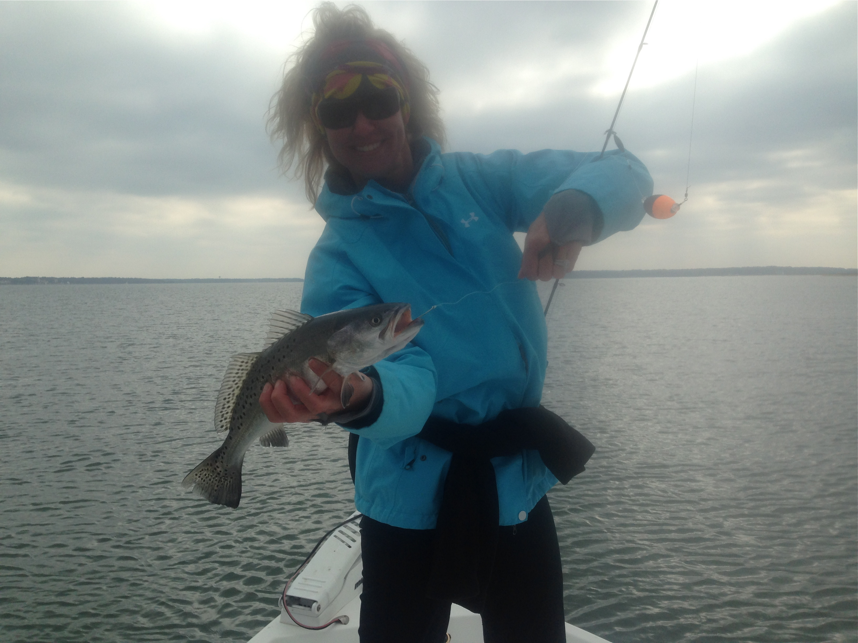 Lisa Taglisabuse with a nice trout!