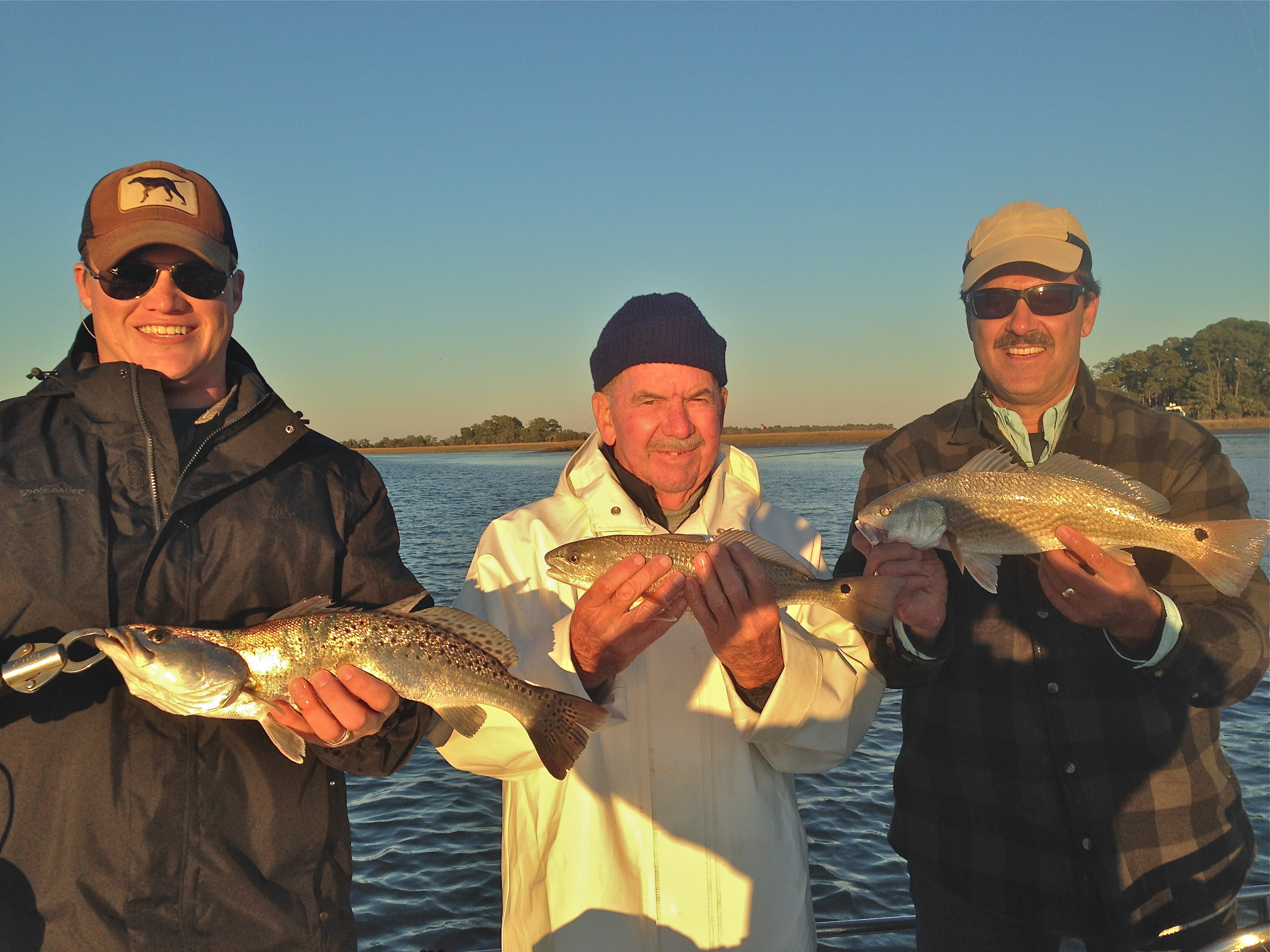 Daniel, Charlie and Bob with nice of reds!