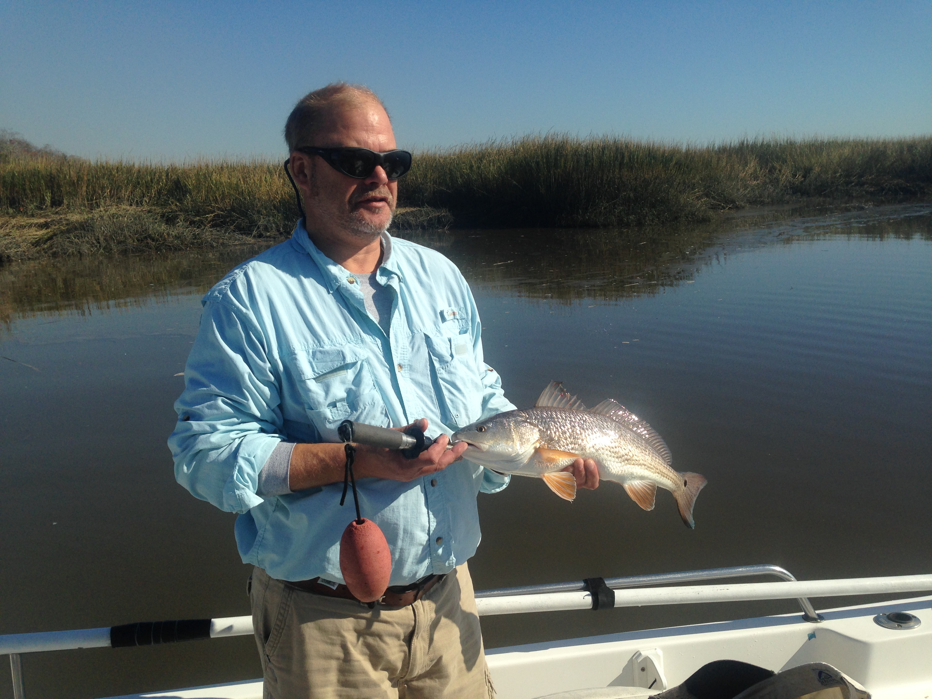 John Doser catching some of his first redfish