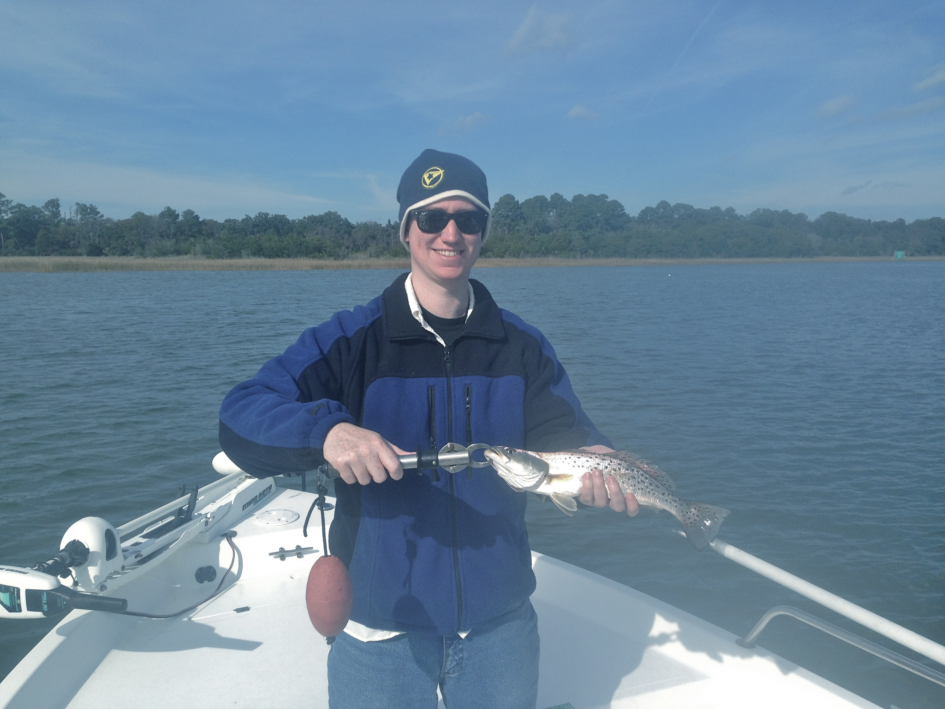 Brit Thomas with a late December seatrout!