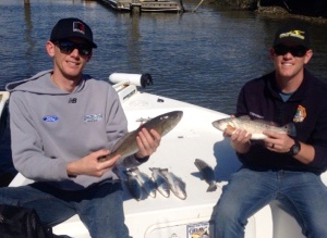 Mile and brent copenhaver with some nice redfish and for Brinkman s fishing report