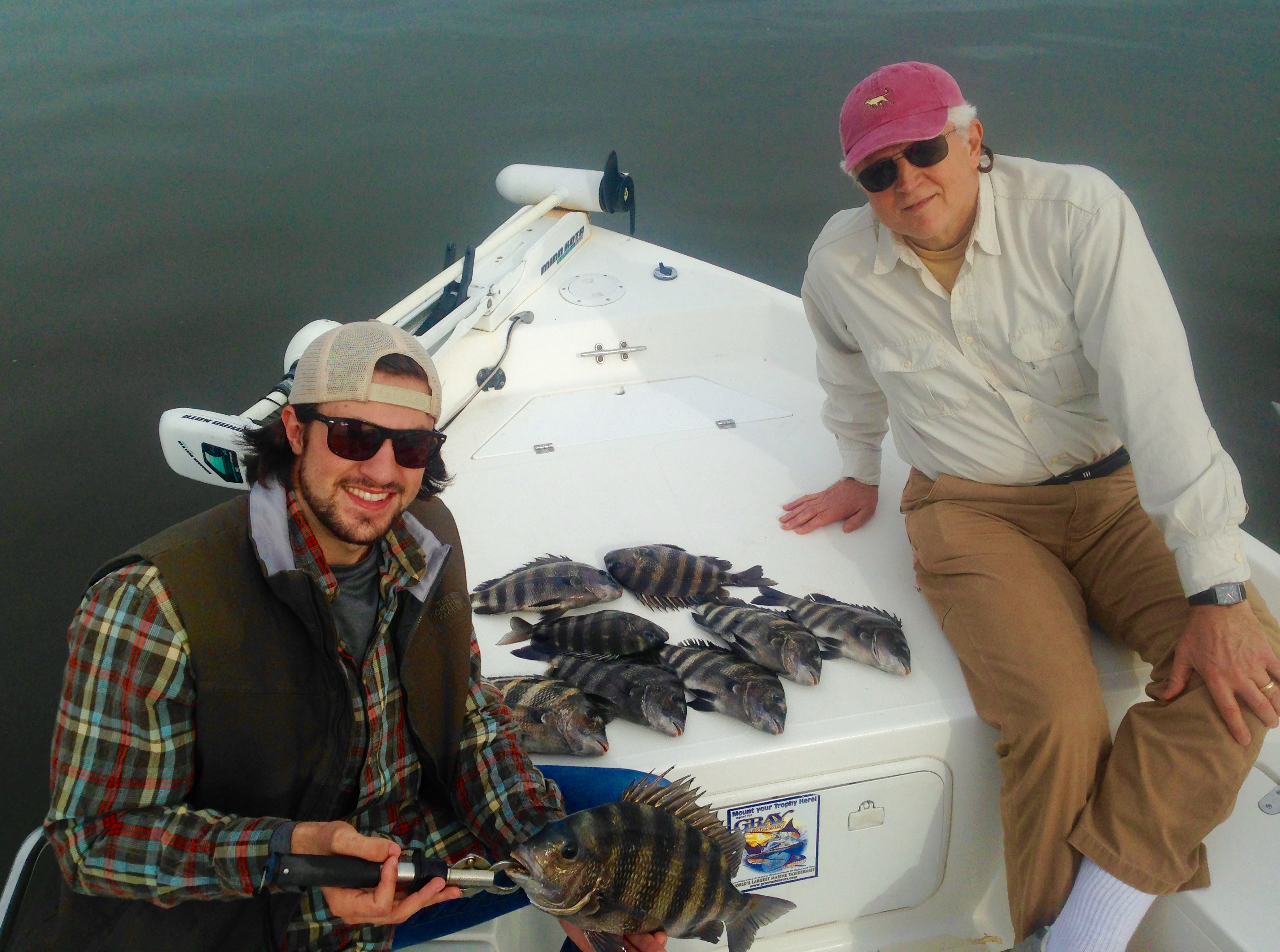 Peter roberts pj catching some sheepshead coastal for Brinkman s fishing report