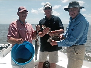 Tom Hacala and friends catching some sea trout for dinner
