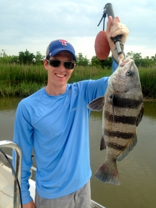 Matthew N. with 7 lb black drum