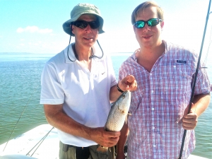 Carl Ivarsson and Trey catching seatrout and redfish!