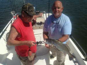 Lee Roper with a large seatrout!