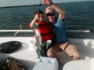 Gabriel and Aaron Holker with a nice seatrout!