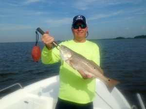 Jeff Grubbs with a nice redfish! Jeff had a big day with lots of schoolie reds!
