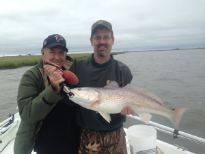 Lee and David Roper with a nice red!