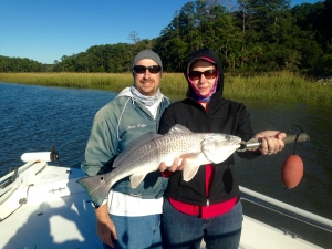 Brad and Carol with a nice red!