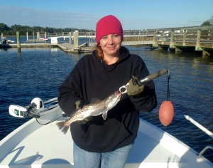 Catherine Gonzales with a nice seatrout!