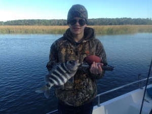Jacob Stanley with a nice sheepshead!