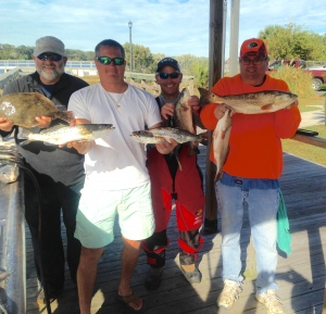 Dan, Glen, Tony and John with some of their catch. Great day of Fishing!