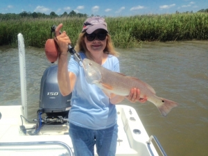 Cathy with a nice red!