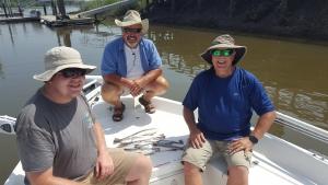 Tony, Grant and Matt on a nice sea trout!