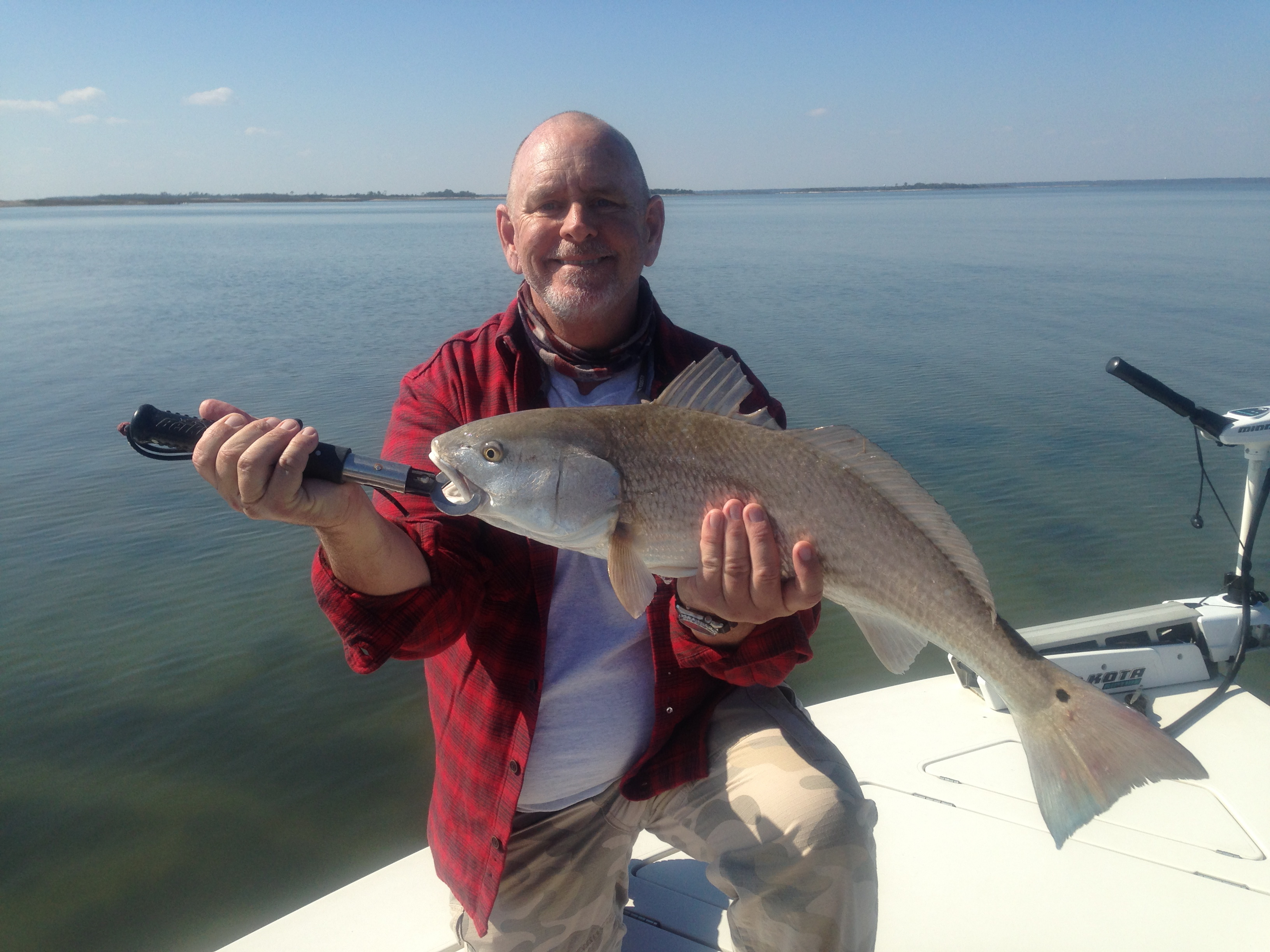 Capt. Jack with winter red on the flats