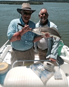 Al Sims and Capt Jack with a nice red!
