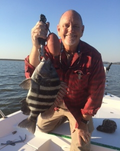 Capt Jack with a nice 4 lb. sheepshead