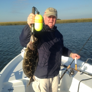 Bill Copeland with a 5 pound flounder!